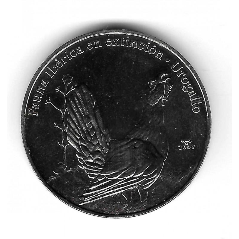 Moneda Cuba 1 Peso Año 2007 Urogallo