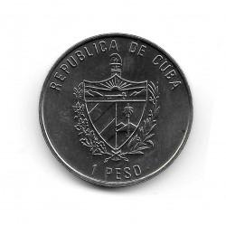 Coin Cuba 1 Peso Year 2007 Urogallo (Capercaillie)