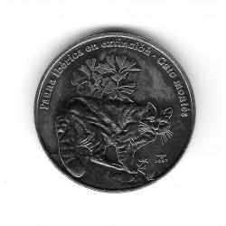 Moneda Cuba 1 Peso Año 2007 Gato Montés