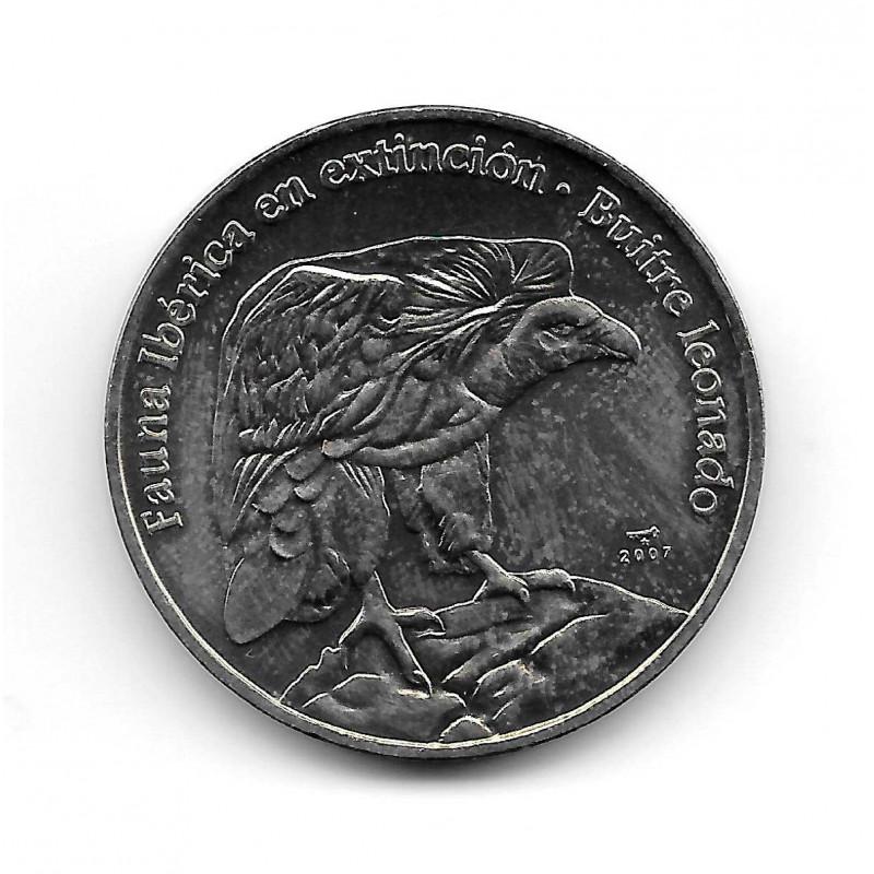 Coin Cuba 1 Peso Year 2007 Tawny Vulture