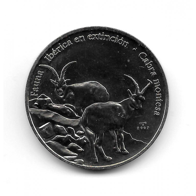 Coin Cuba 1 Peso Year 2007 Mountain Goat