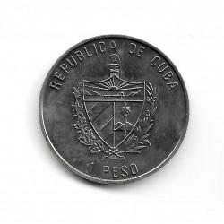 Moneda Cuba 1 Peso Año 2007 Cabra Montesa
