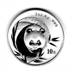 Moneda China 10 Yuan Año 2003 Plata Panda Proof