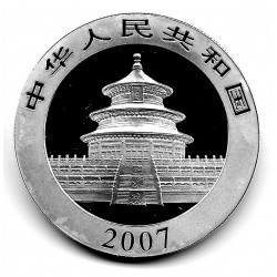 Moneda China 10 Yuan Año 2007 Plata Panda Proof