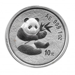 Coin China 10 Yuan Year 2000 Silver Panda Proof