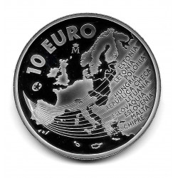 Coin Spain 10 Euros 2004 Enlargement of the European Union Silver Proof