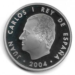 Moneda España 10 euros Año 2004 Ampliación Unión Europea Plata Proof