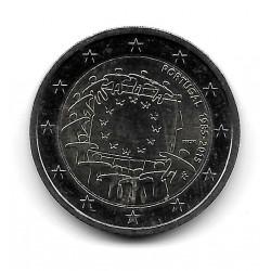 Münze Portugal 2 Euro Jahr 2015 Europaflagge