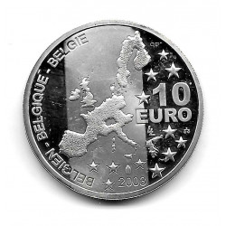 Coin Belgium 10 Euros Year 2003 Georges Simenon Silver Proof