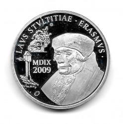 Münze Belgien 10 Euro Jahr 2009 Erasmus von Rotterdam Silber Proof