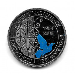 Coin Belgium 10 Euros Year 2008 The Blue Bird Silver Proof
