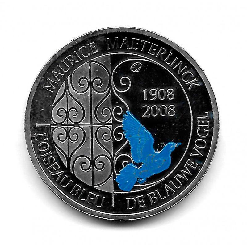 Münze Belgien 10 Euro Jahr 2008 Der blaue Vogel Silber Proof