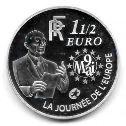 Coin France 1.5 Euro Year 2006 European Monetary Union Silver Proof