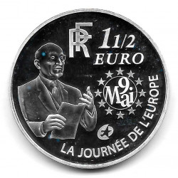 Moneda Francia 1,5 Euros Año 2006 Unión Monetaria Europea Plata Proof
