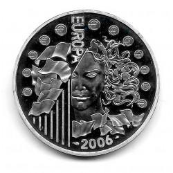 Moneda Francia 1,5 Euros Año 2006 Unión Monetaria Europea Plata Proof