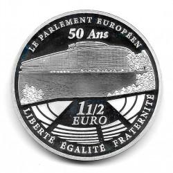 Münze Frankreich 1,5 Euros Jahr 2008 Europäisches Parlament Silber Proof
