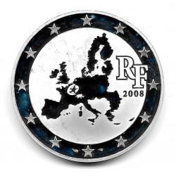 Moneda Francia 1,5 Euros Año 2008 Parlamento Europeo Plata Proof