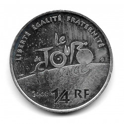 Coin France 1/4 Euro Year 2003 Tour of France Silver
