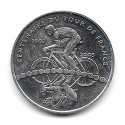Moneda Francia 1/4 Euro Año 2003 Tour de Francia Plata