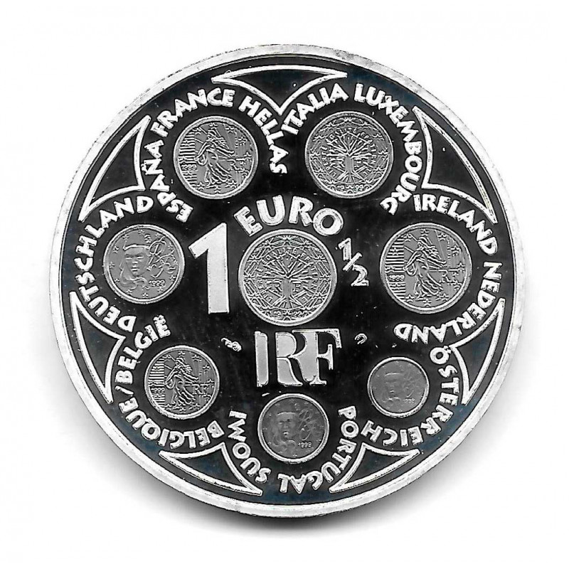 Coin France 1.5 Euro Year 2002 Europe Series Silver Proof