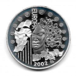 Moneda Francia 1,5 Euros Año 2002 Series Europeas Plata Proof