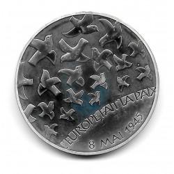 """Moneda Francia 1,5 Euros Año 2005 60 Años de Paz """"Estrella de Europa"""" Plata Proof"""