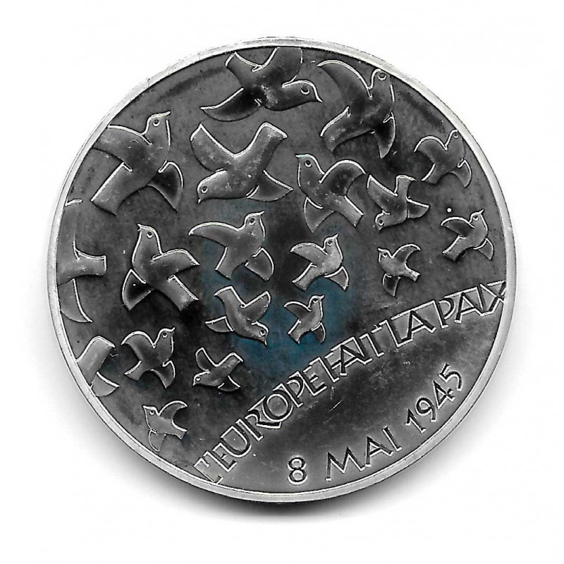 """Coin France 1.5 Euro Year 2005 60 Years of Peace """"Europe Star"""" Silver Proof"""
