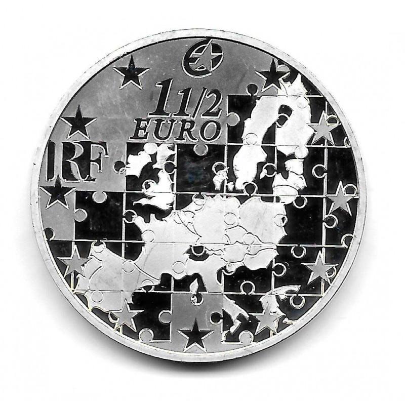 Münze Frankreich 1,5 Euros Jahr 2004 Erweiterung Europäischen Union Silber Proof