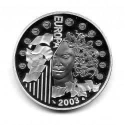 Moneda Francia 1 1/2 Euros Año 2003 Introducción del Euro Plata Proof