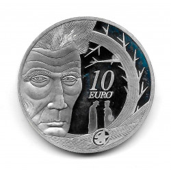 Coin Ireland 10 Euro Year 2006 Samuel Beckett Silver Proof
