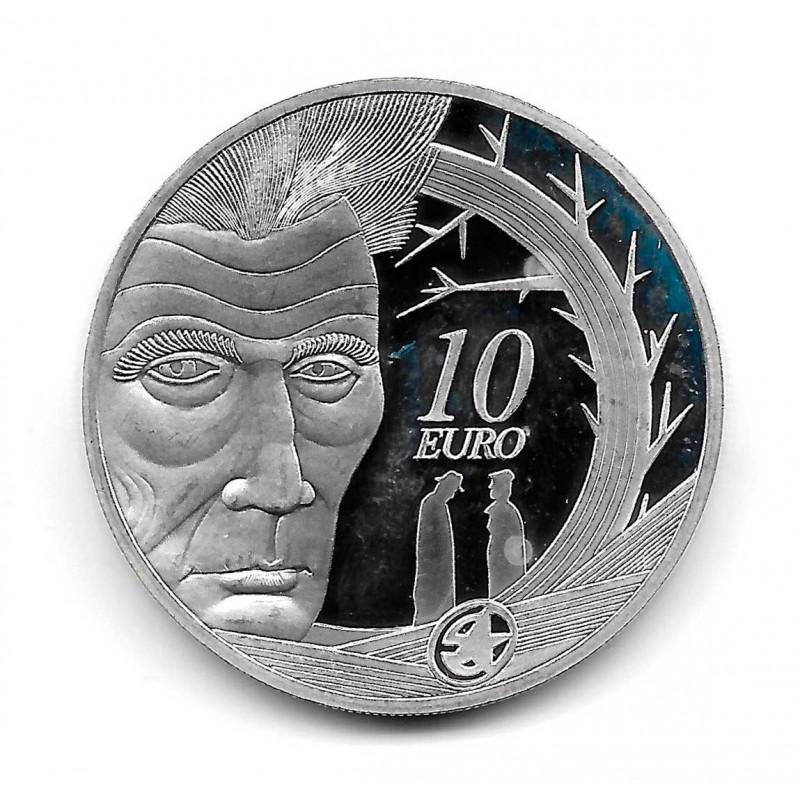 Moneda Irlanda 10 Euros Año 2006 Samuel Beckett Plata Proof