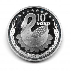 Münze Irland 10 Euros Jahr 2004 Erweiterung Schwan Europa Silber Proof