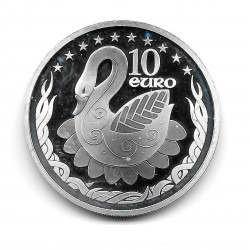 Silver Coin 10 Euro Ireland Year 2004 EU Presidency Swan Proof | Numismatic Store - Alotcoins
