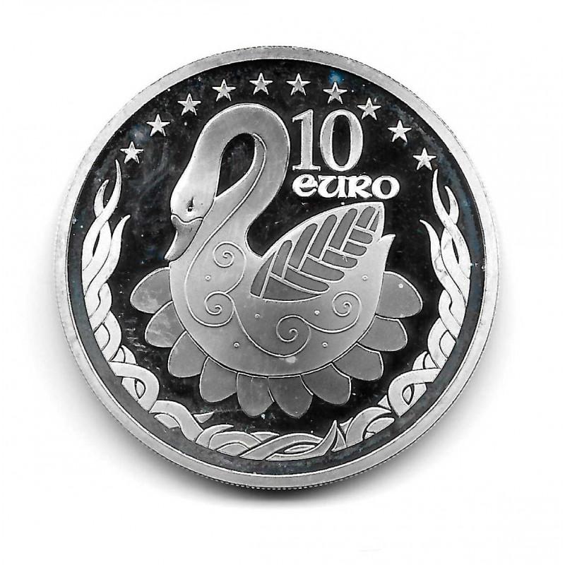 Moneda de plata 10 Euros Irlanda Año 2004 Presidencia UE Cisne Proof | Monedas de colección - Alotcoins
