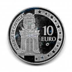 Coin Malta 10 Euros Year 2008 Inn of Castile Silver Proof