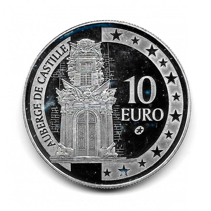 Moneda Malta 10 Euros Año 2008 Posada de Castilla Plata Proof