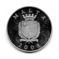 Münze Malta 10 Euro Jahr 2008 Inn von Kastilien Silber Proof