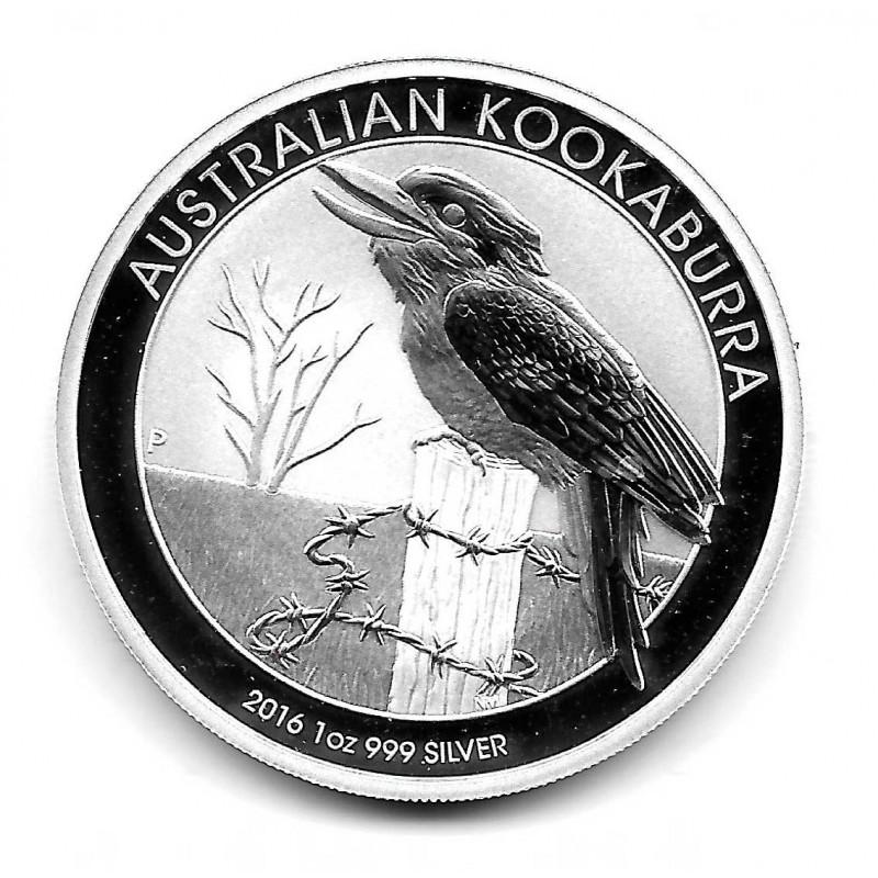 Moneda Australia 1 Dólar Año 2016 Kookaburra Australiana Plata Proof