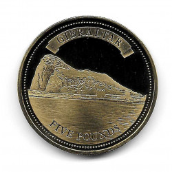 Moneda Gibraltar Año 2011 5 Libras Peñon