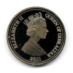 Münze Gibraltar Jahr 2011 5 Pfund Felsen