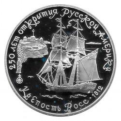 Silver Coin 3 Rubles Russia...
