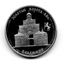 Münze Russland Jahr 1995 3 Rubel Goldenes Tor von Wladimir Silber Proof PP