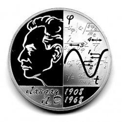 Münze 3 Rubel Russland Jahr 2008 Geburtstag Landau Silber Proof PP
