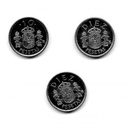 3 Monedas España 10 Pesetas Años 1983 1985 1999 Sin Circular