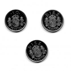 3 Münzen Spanien 10 Peseten Jahre 1983 1985 1999 Unzirkuliert