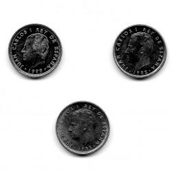 3 Coins Spain 10 Pesetas Years 1983 1985 1999 Uncirculated