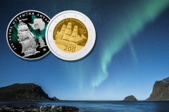 Monedas conmemorativas del 200 aniversario del descubrimiento de la Antártida